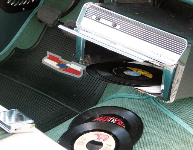 In-car record player