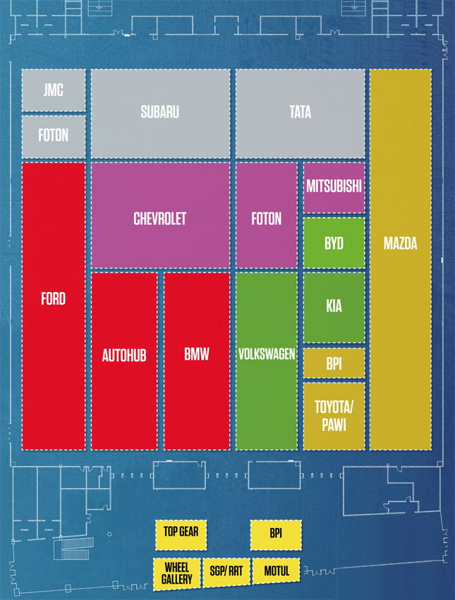 Take a look at the floor plan of the 2015 Manila International Auto Show