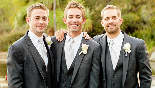 Paul Walker and brothers Cody and Caleb