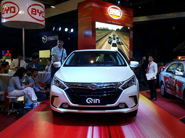 BYD Qin at 2015 Manila International Auto Show