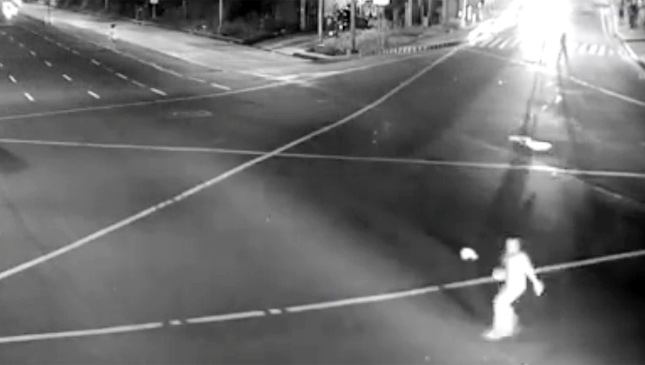 Jaywalking accident in the Philippines