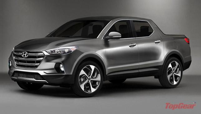 Hyundai Santa Cruz pickup rendering