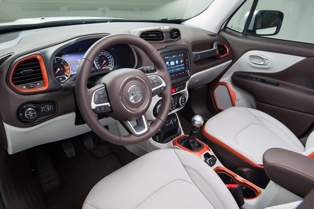 2015 Ward's 10 Best Interiors: 2015 Jeep Renegade Limited