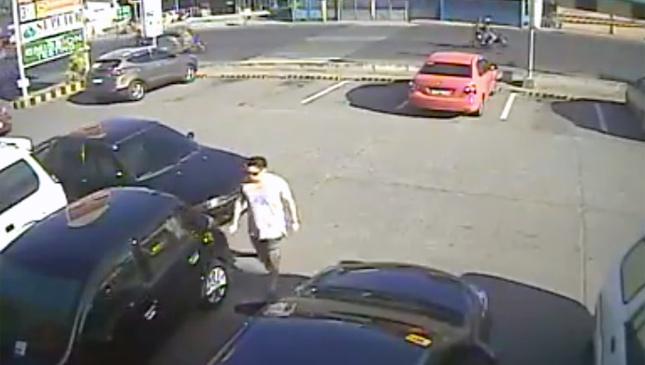 Car vandal in Talisay, Cebu