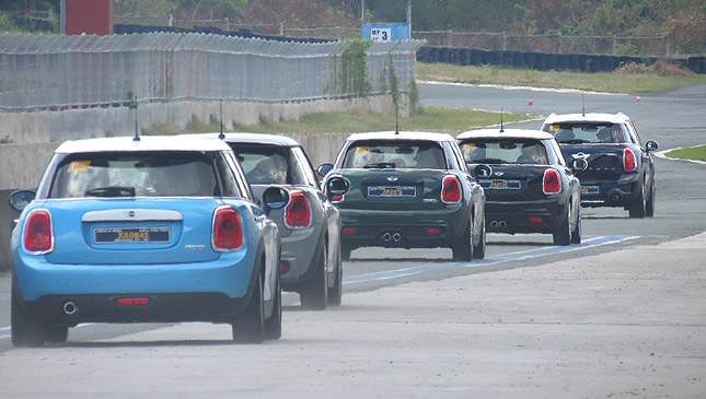 We took the five-door Mini around the track and had loads of fun