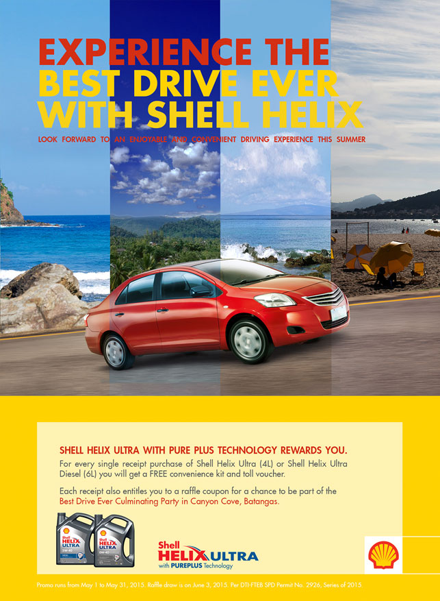 Get Freebies When You Buy Shell Helix Ultra Motor Oil
