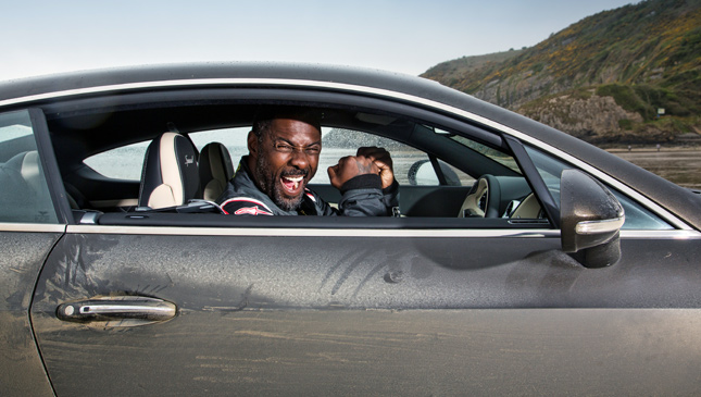 Idris Elba in a Bentley Continental GT Speed
