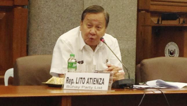 Buhay party list representative Lito Atienza