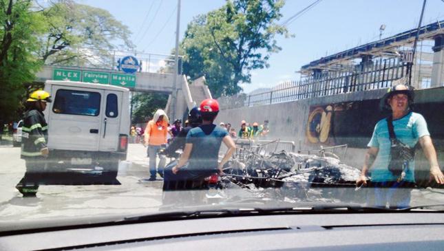 Burning COMET e-jeepney