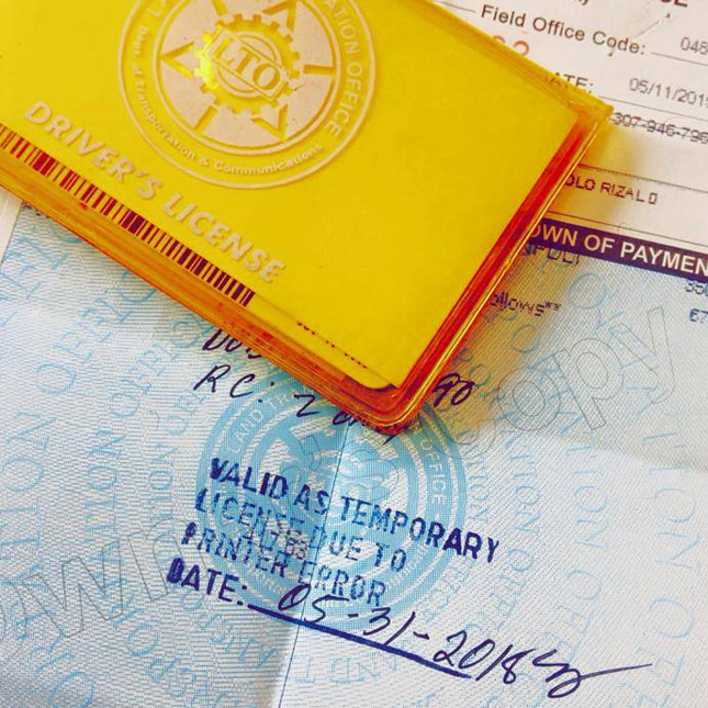 Shortage of driver's licenses at Land Transportation Office