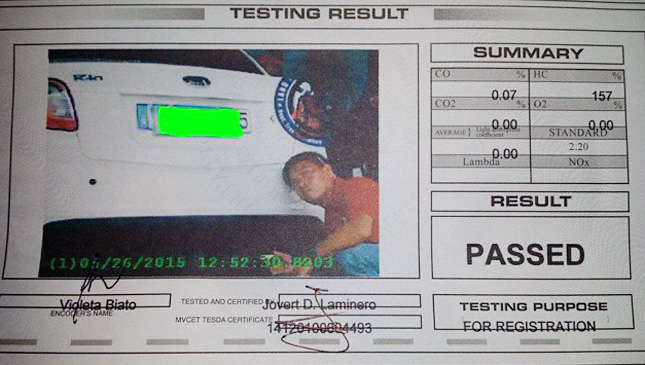 Emission testing in the Philippines