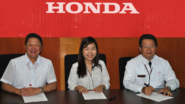Honda Cars Zamboanga contract signing
