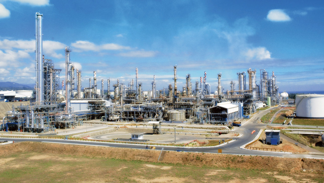 Petron oil refinery in Bataan