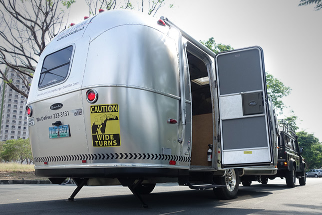 Army Navy Airstream trailer