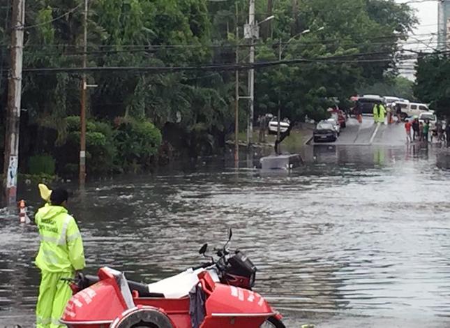 Flood in Quezon City on June 8, 2015