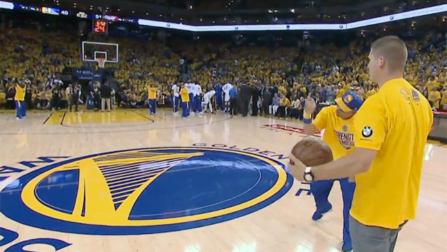 Man wins BMW car after making half-court shot in Game 2 of the NBA Finals