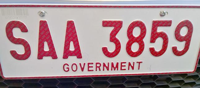 LTO license plate screws