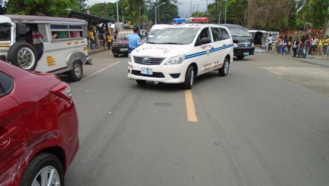 Police car accident in Tagaytay