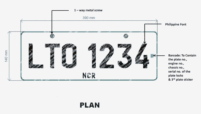 LTO license plate barcode