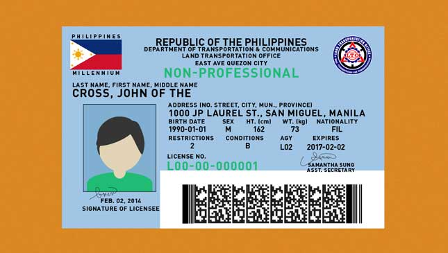 Driver's license stock in the Philippines