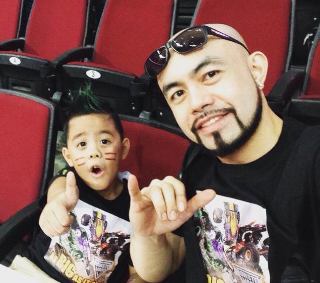 Winter Regino and son Calvin