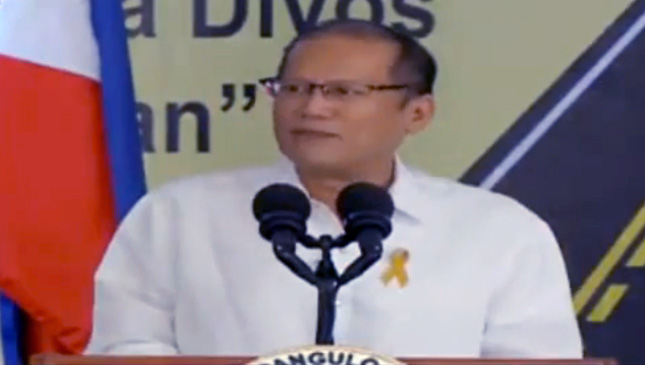President Aquino at the DPWH's 117th anniversary celebration