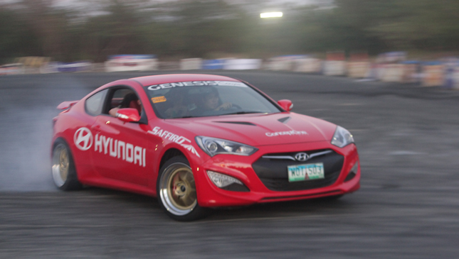 Hyundai Lateral Drift driver in action
