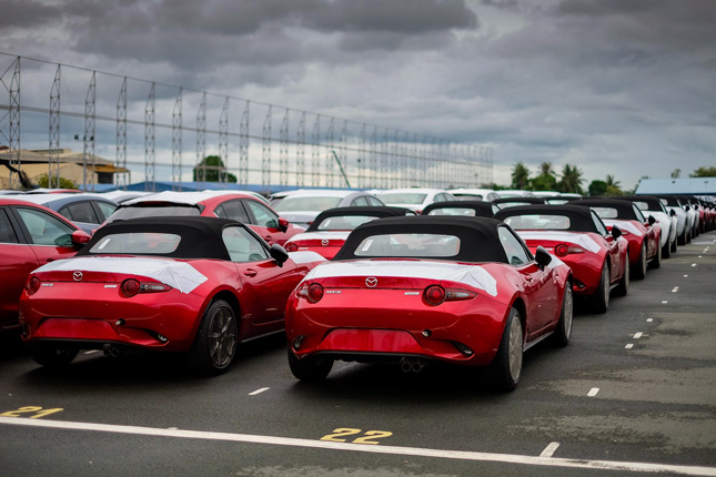 Mazda MX-5 at Bauan International Port in Batangas