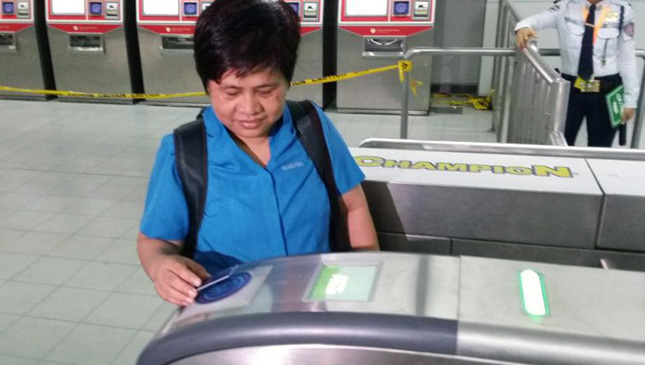 LRT-2 tap-and-go ticketing system