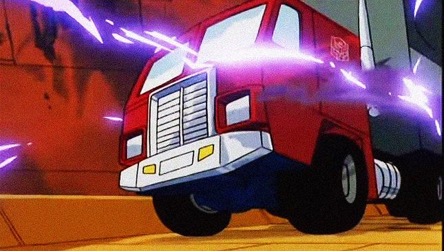 Optimus Prime in vehicle form