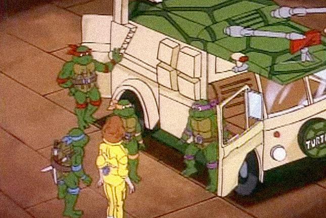 The Turtle Van and the Ninja Turtles