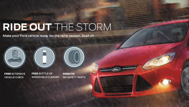 Ford ride out the storm promo