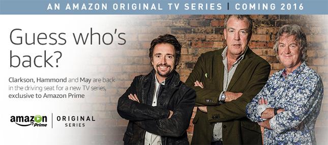 Clarkson, Hammond and May on Amazon Video