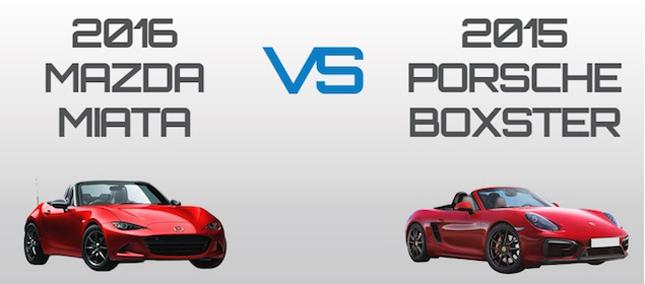 Mazda Miata vs Porsche Boxster