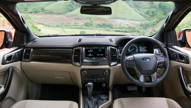 All-new Ford Everest interior
