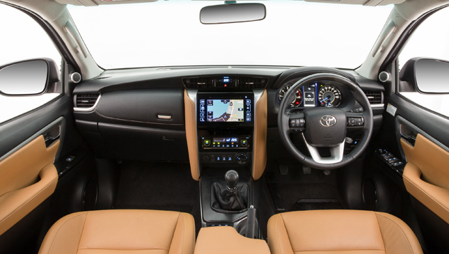 12 images: At last, official photography of the all-new Toyota Fortuner's interior