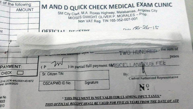 LTO medical exam