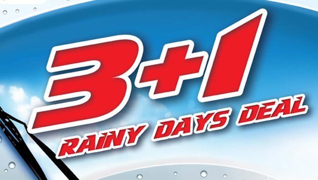 Bridgestone 3+1 Rainy Day Deals promo