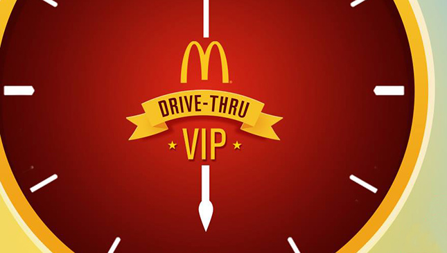 McDonald's Drive-Thru VIP Sticker promo