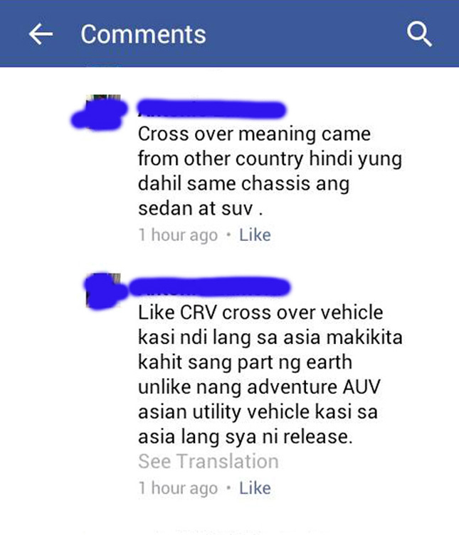 "Definition of ""crossover vehicle"""