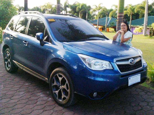 Arnest John Agbayani's Subaru Forester