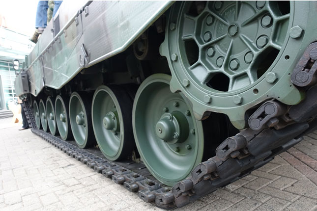 Leopard tank in Indonesia