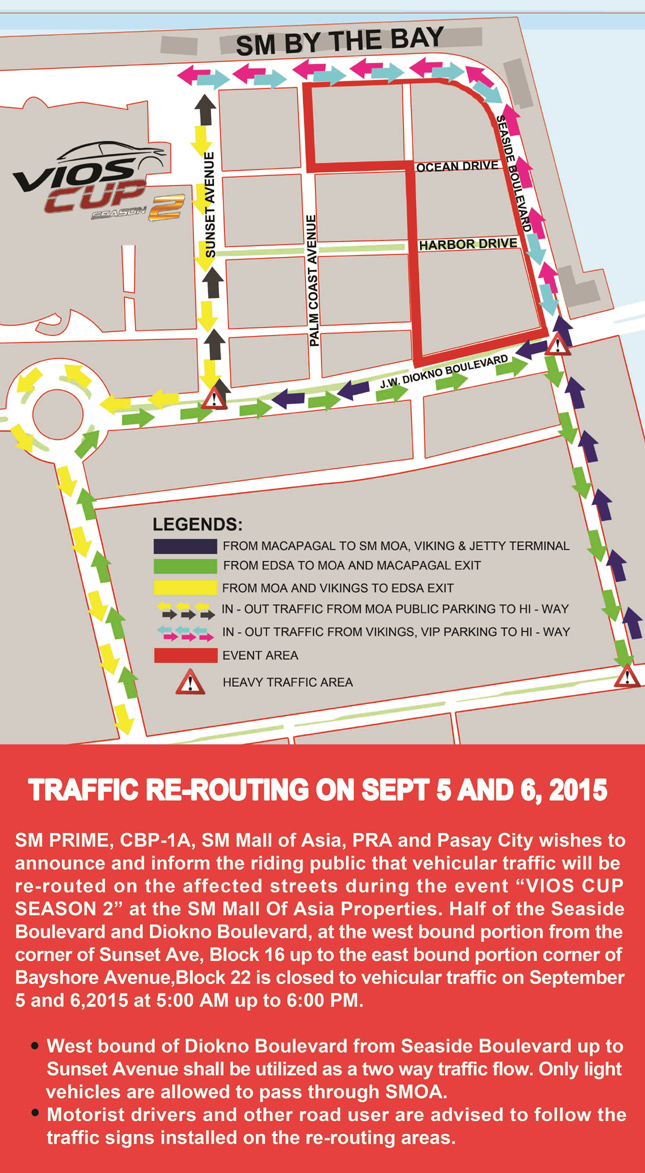 Vios Cup rerouting