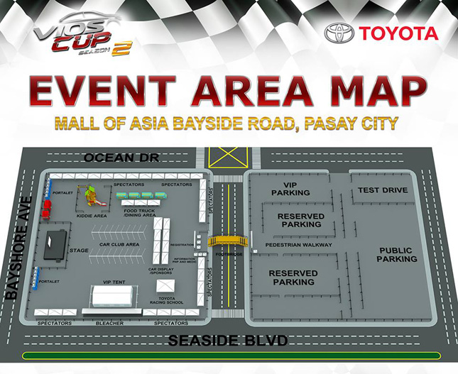 Toyota Vios Cup event area