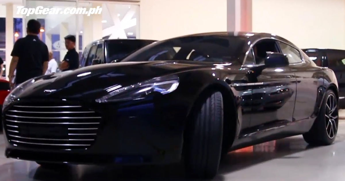 That night we drove two gorgeous ladies in an Aston Martin Rapide S