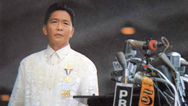 Former Philippine President Ferdinand Marcos
