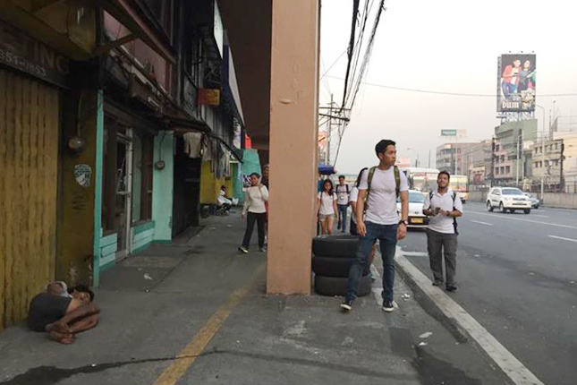 Pedestrian-safety advocates in the Philippines