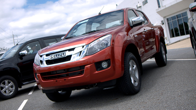 Isuzu test drive in Thailand