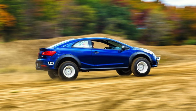 The Kia Forte Koup Mud Bogger At Sema 2015 Is Designed To Play In