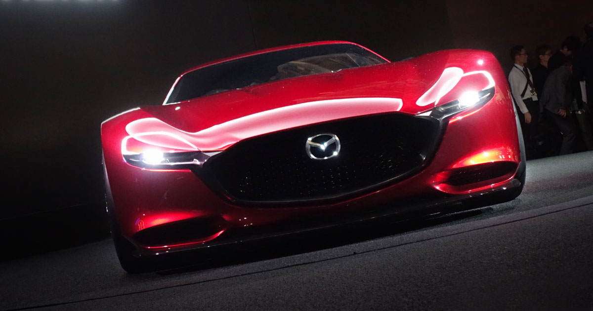 When will we see a rotary-powered Mazda RX sports car on public roads?